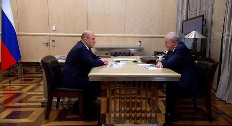 Председатель Правительства РФ Михаил Мишустин встретился с руководителем Федеральной таможенной службы Владимиром Булавиным